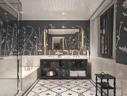 decor and floor modern master bathroom with interior wallpaper master bathroom