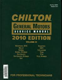 chilton general motors service manual vol 3 various