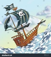 cartoon pirate ship stock illustration 54657979 shutterstock