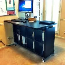 Stand Up Desk Office Ikea Elevated Desk Office Furniture Stand Up Desks Hacked Standing
