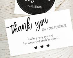thank you for order etsy