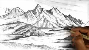 landscape pencil sketches for beginners easy pencil sketches of