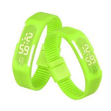 led rubber bracelet images Waterproof new fashion popular durable male feamle sport watch jpg