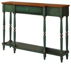 Antique Console Table Lovely Green Console Table With Wyoming 2 Tone Antique Console