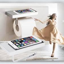 toilet paper shelf square roll toilet bathroom paper phone holder tissue holder with