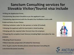 Invitation Letter Hotel Reservation looking for slovakia visitor visa contact sanctum consulting