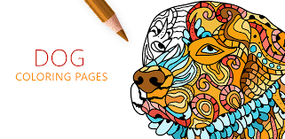 dog coloring pages adults android ios windows phone