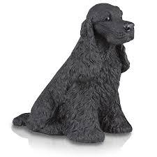 figurine urns cocker spaniel black