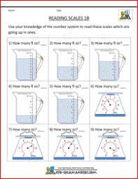 measurement worksheets reading scales sheet 1b for 1st grade