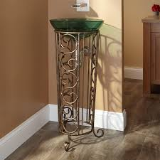 Wrought Iron Bathroom Furniture Rouleau Wrought Iron Vessel Sink Stand Bathroom