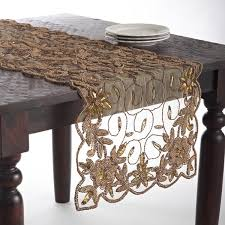 hand beaded table runners hand beaded design table topper or table runner free shipping