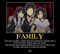 Durarara Memes - durarara the orihara family is possibly my favorite family in