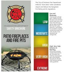 Backyard Fire Pit Regulations Dickinson Fire Home Safety Tips