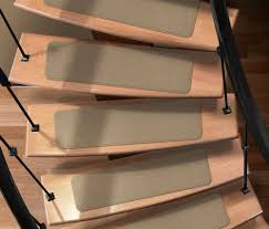 carpet stair treads for warmer and less slippery stairs