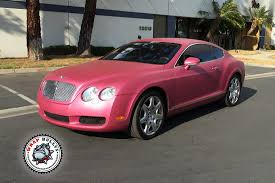 matte bentley bentley wrapped in avery metallic pink wrap bullys