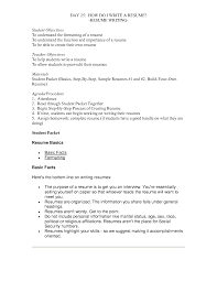 Resume Packet Keep Trying Different Options With Your Rsum Simple Sample