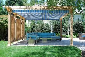 easy way to build a pergola with a slanted roof u2014 smith design
