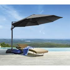 Bunnings Cantilever Umbrella by Coolaroo 3 5m Charcoal Round Banksia Cantilever Umbrella Find It