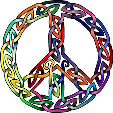 celtic peace sign probally for a pretty colorful