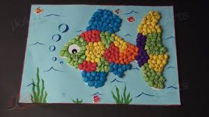 diy fish with kite paper balls project for kids jk arts