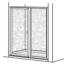 Shower Door Hinged by Prestige Framed Hinged Shower Door With In Line Panel American