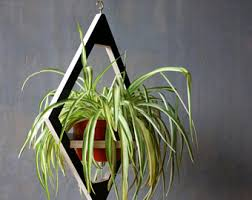Geometric Hanging Planter by Modern Hanging Planter Mid Century Plant Stand Geometric