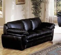 Contemporary Black Leather Sofa Home Furniture Plush Contemporary Black Leather Sofa