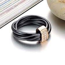 non metal wedding bands fashionable non metal ceramics rings black and white jewelry with