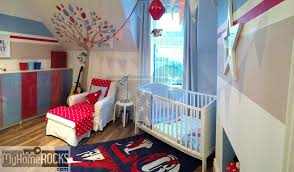 Blue And Red Boys Bedroom Little Boys Bedroom Happy Nursery Decor For A Happy Baby