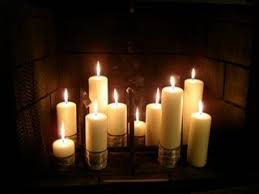 Candles For Fireplace Decor by Glamorous Candles In Fireplace Ideas Photo Design Inspiration
