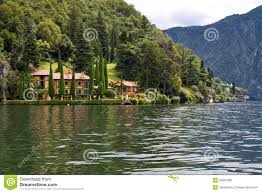 Lake Como Italy Map Villa And Park On Lake Como Italy Royalty Free Stock Image