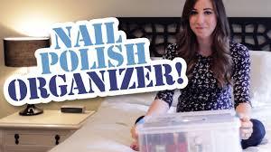 my nail polish organizer youtube