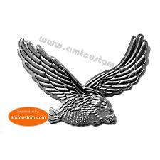 chrome eagle silver sticker decal