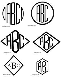 3 letter monogram vinyl trunk monogramming stock custom logos