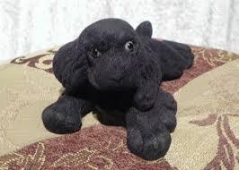 black cocker spaniel puppy flocked chalkware black cocker spaniel