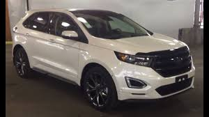 white ford edge 2016 white ford edge 4dr sport awd review prince george motors