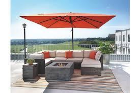 Patio Table With Umbrella Oakengrove Patio Umbrella Ashley Furniture Homestore