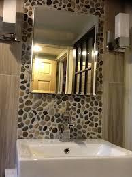 White Pebble Tiles Bathroom - glazed bali ocean pebble tile bathroom vanity pebble tile shop