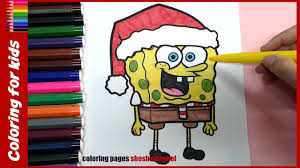 christmas coloring pages spongebob christmas coloring from