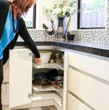 corner kitchen cabinet nz fit nz got a tricky corner cupboard in your kitchen
