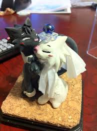cat wedding cake topper cat cuple wedding cake topper by niwa katuki on deviantart