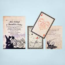 Thailand Wedding Invitation Card Alice In Wonderland Wedding Invitations U0026 Stationery Ink U0026 Curls