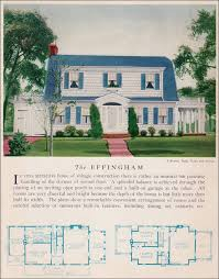 colonial revival house plans the 1929 effingham colonial revival attached garage