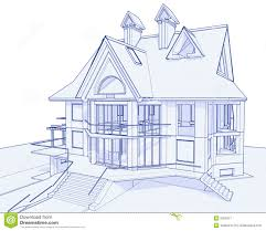 modern house blueprint stock image image 6360271