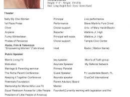 Actor Resume Template Microsoft Word Modeling Resume Virtren Com