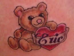 heart cherub teddy bear tattoo designs photo 2 real photo