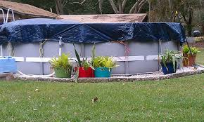 landscaping around base of intex ultra frame pools archive