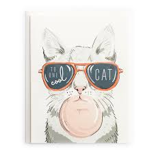 to one cool cat card just because greeting cards paper goods