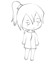 chibi lineart by xvxsimple angelxvx on deviantart