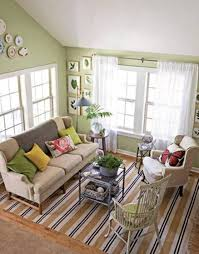 country style living rooms with sage green walls and sheer